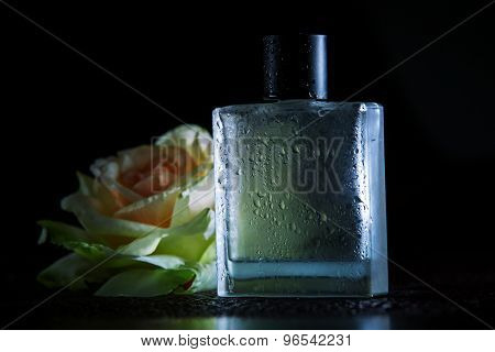 Perfume On A Black Background