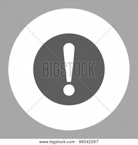 Problem flat dark gray and white colors round button