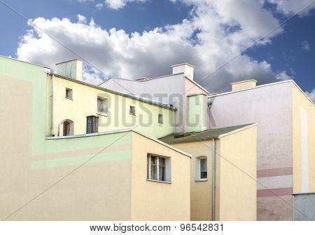 Old Residential Apartment Blocks.