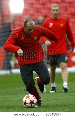 LONDON, ENGLAND. May 27 2011: Manchester's forward Wayne Rooney during the official training session for the 2011UEFA Champions League final between Manchester United and FC Barcelona