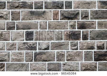 Old brown stone wall