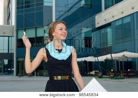 Business Woman Happy Talking On The Phone