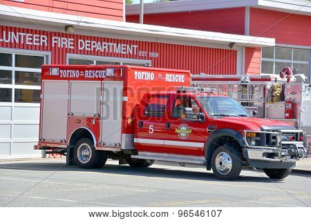 Truck of Tofino Volunteer Fire Department