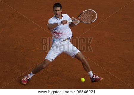MONTE CARLO, MONACO. APRIL 19 2012 in action during the 3rd round singles match between Novak Djokovic (SRB) and Alexandr Dolgopolov (UKR) at the ATP Monte Carlo Masters  .