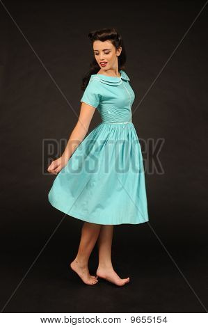 A pretty pin-up girl