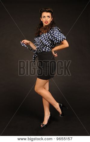 A pretty pin up girl