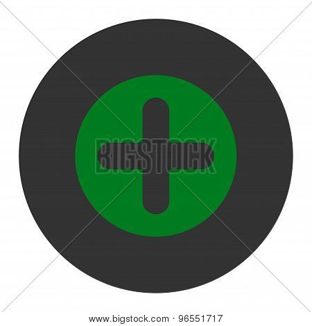 Create flat green and gray colors round button