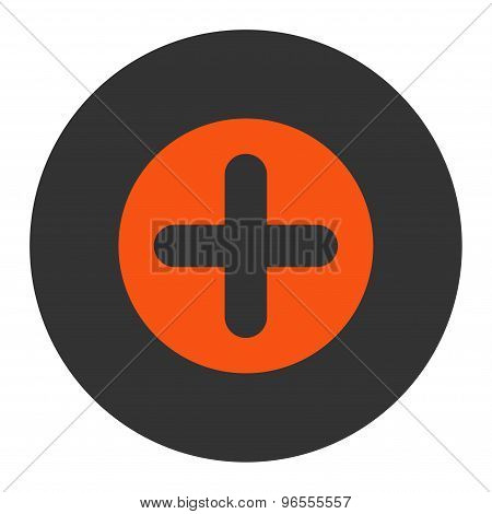 Create flat orange and gray colors round button