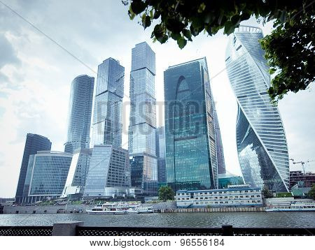 Panorama Of Moscow City, Russia