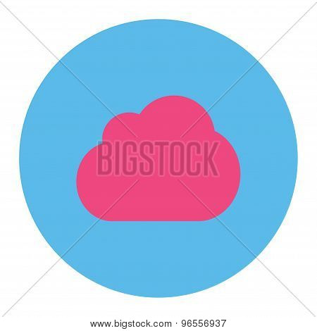 Cloud flat pink and blue colors round button