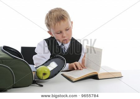 Boy With Green Apple