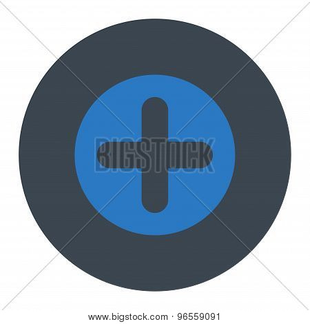 Create flat smooth blue colors round button