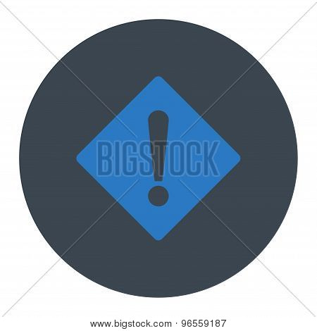 Error flat smooth blue colors round button