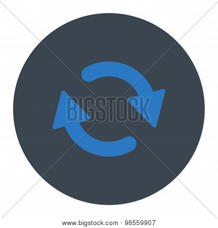 Refresh flat smooth blue colors round button
