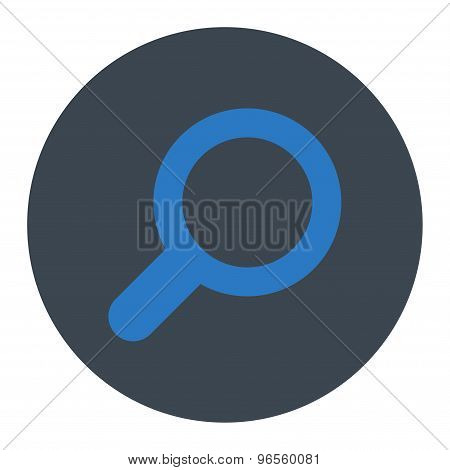 View flat smooth blue colors round button
