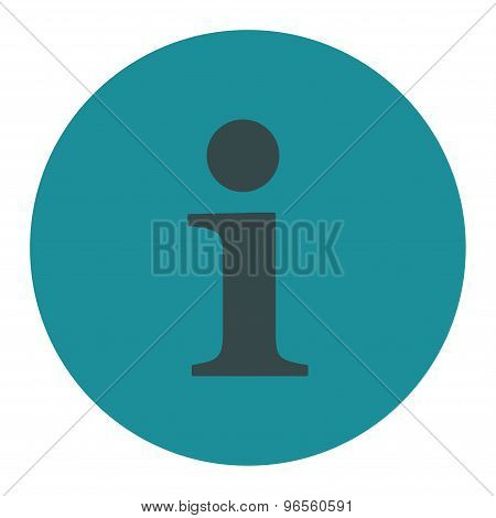 Info flat soft blue colors round button