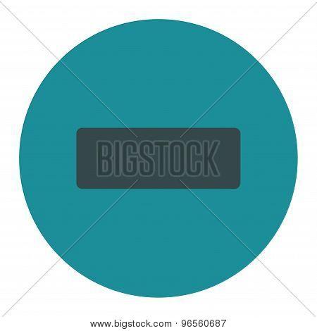 Minus flat soft blue colors round button