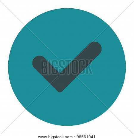 Yes flat soft blue colors round button