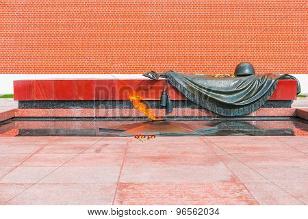 Eternal Flame And Tomb Of The Unknown Soldier In Moscow