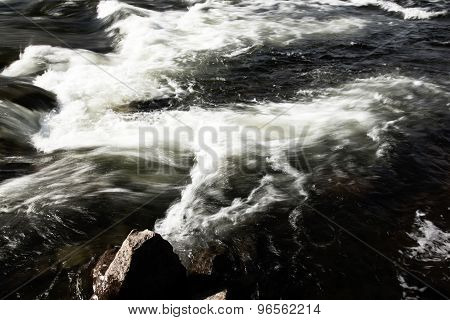 fast river flow - Lofoten Islands, Norway