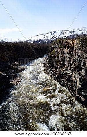 mountain rift in Norway