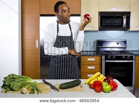 Man Learning To Cook