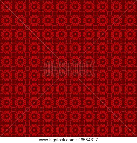 Seamless Chinese window tracery spiral geometry line pattern background.