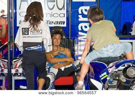 Rome, Italy - September 30 2007. Superbike Championship, Vallelunga Circuit. Yukio Kagayama
