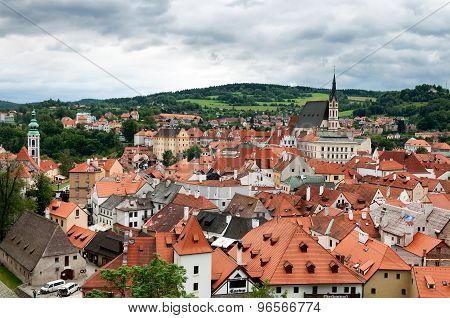 City view of Cesky Krumlov, Czech Republic.