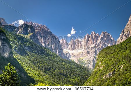 Views Of The Dolomites, Italian Alps.