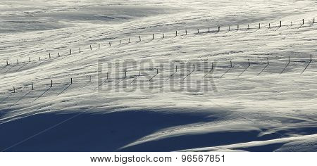 Snow Fences Blue White