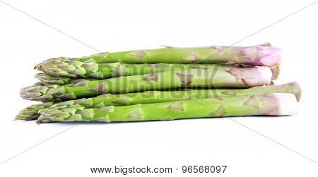Fresh asparagus isolated on white
