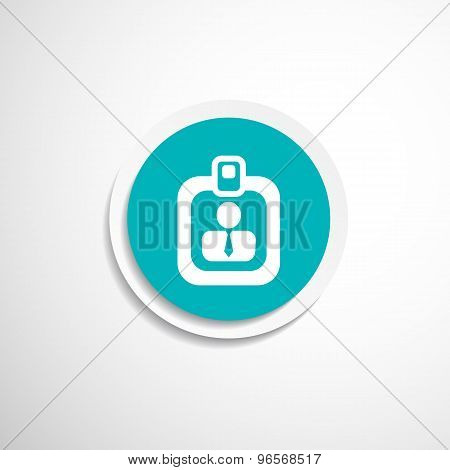 Vector identification card icon  vector profile search
