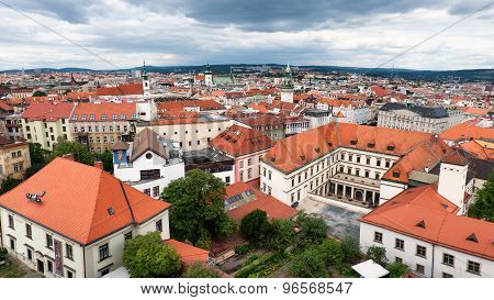 Skyline of Brno city, second largest city in Czech Republic