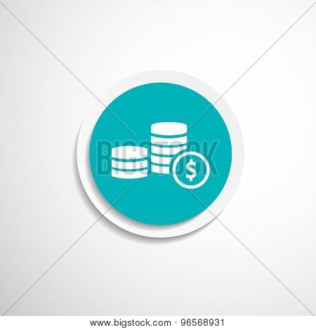 icon coin white business vector wealth finance