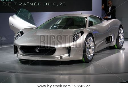 Jaguar C-x75 Concept At Paris Motor Show