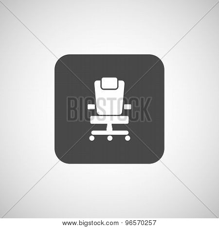 Office chair icon business vector seat shape