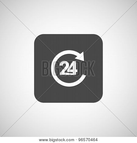 24 Hr service sign vector business glossy symbol service