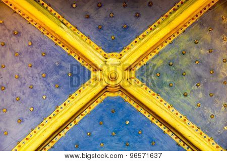 Ceiling With Gold Stars