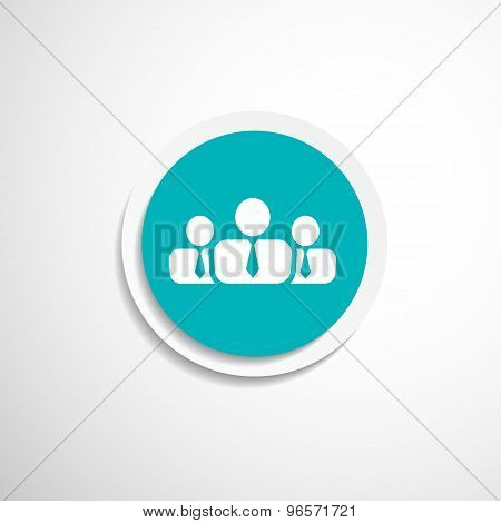 people icon business communication relationships group