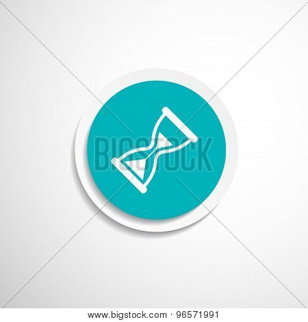 Hourglass. Vector illustration icon time watch wait clock