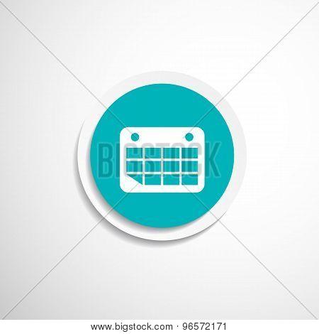 Vector calendar icon Flat design