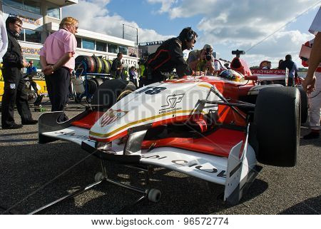 Vallelunga Circuit, Rome, Italy - November 2 2008. Superleague Formula Car On Grid