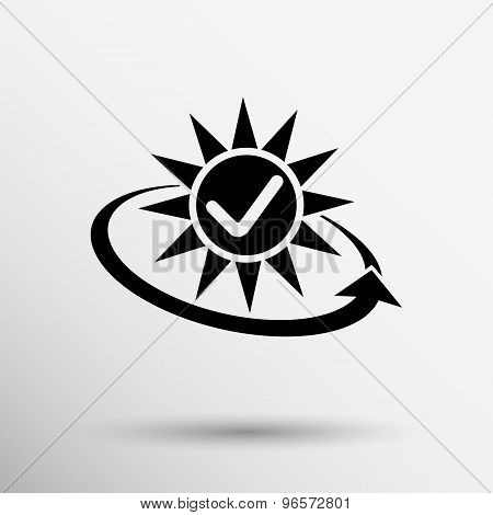 Vector open icon clock time delivery timetable day arrow sign