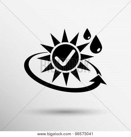 sun protection block icon sunblock skin vector isolated