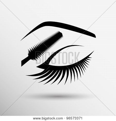 eye closeup mascara model female fashion girl look