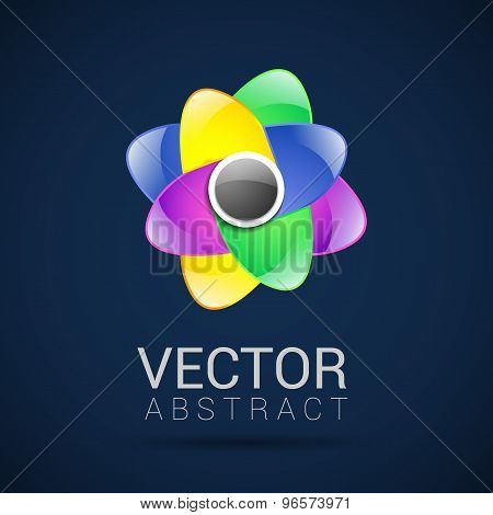 Abstract Logo template set. Icons for any type of business. Vector.