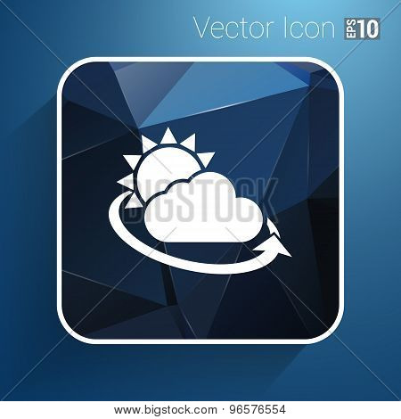 weather icon rain closeup sunlight shine isolated wet cold