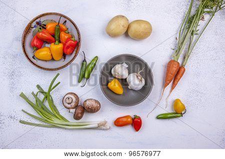 Assorted Raw Veggies.
