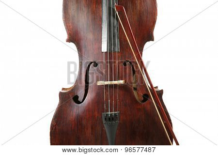 Cello isolated ob white